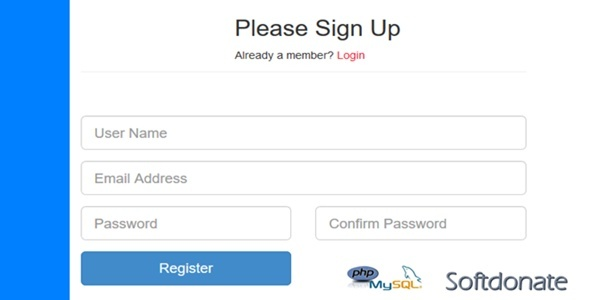 Login and Registration system with PHP