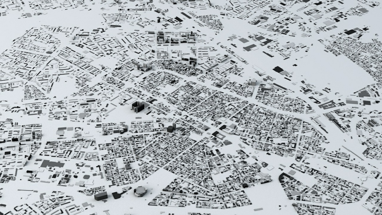 Sofia Streets and Buildings Architectural 3D Model