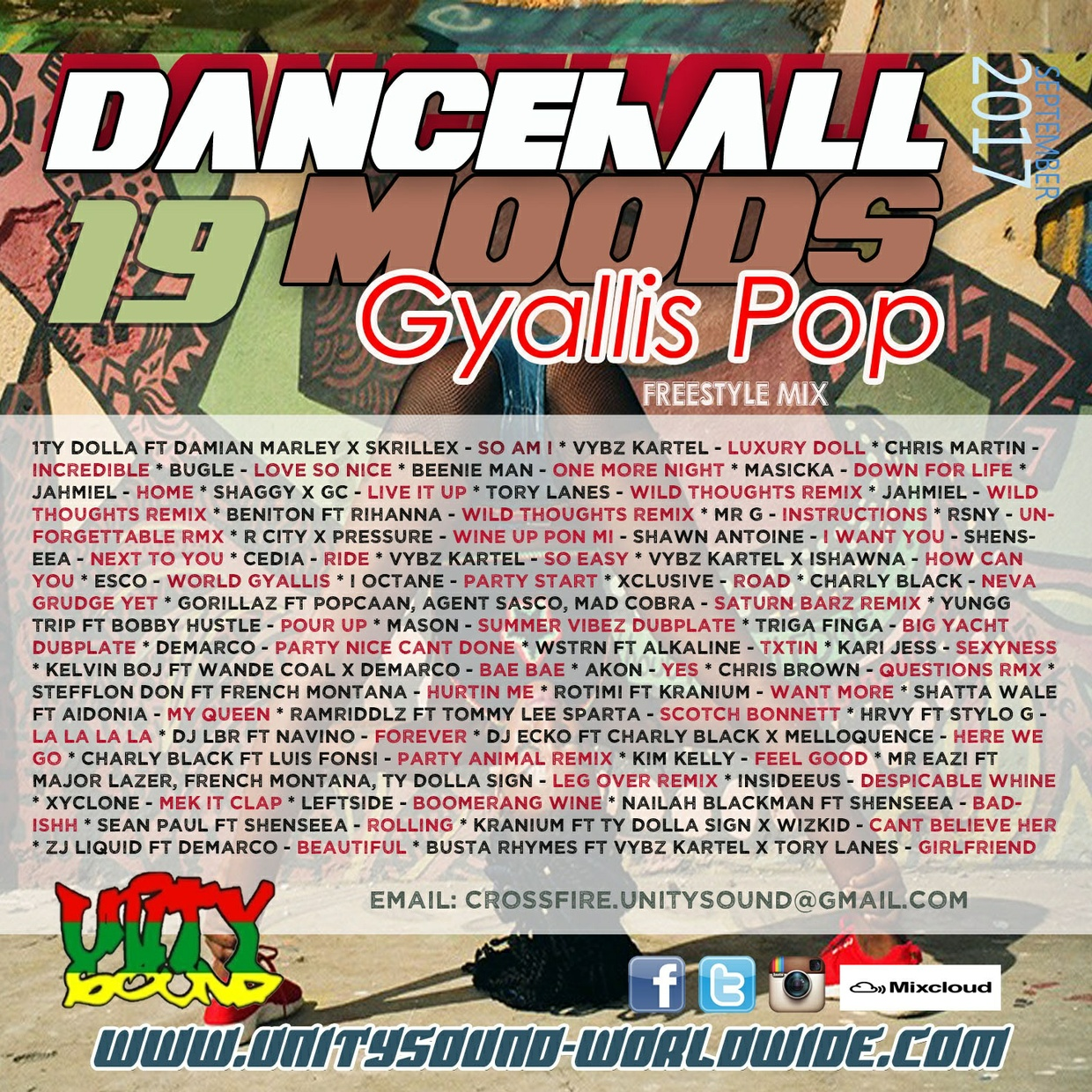 [Multi-Tracked Download] Unity Sound - Dancehall Mood 19 - Gyallis Pop Freestyle Mix 2017