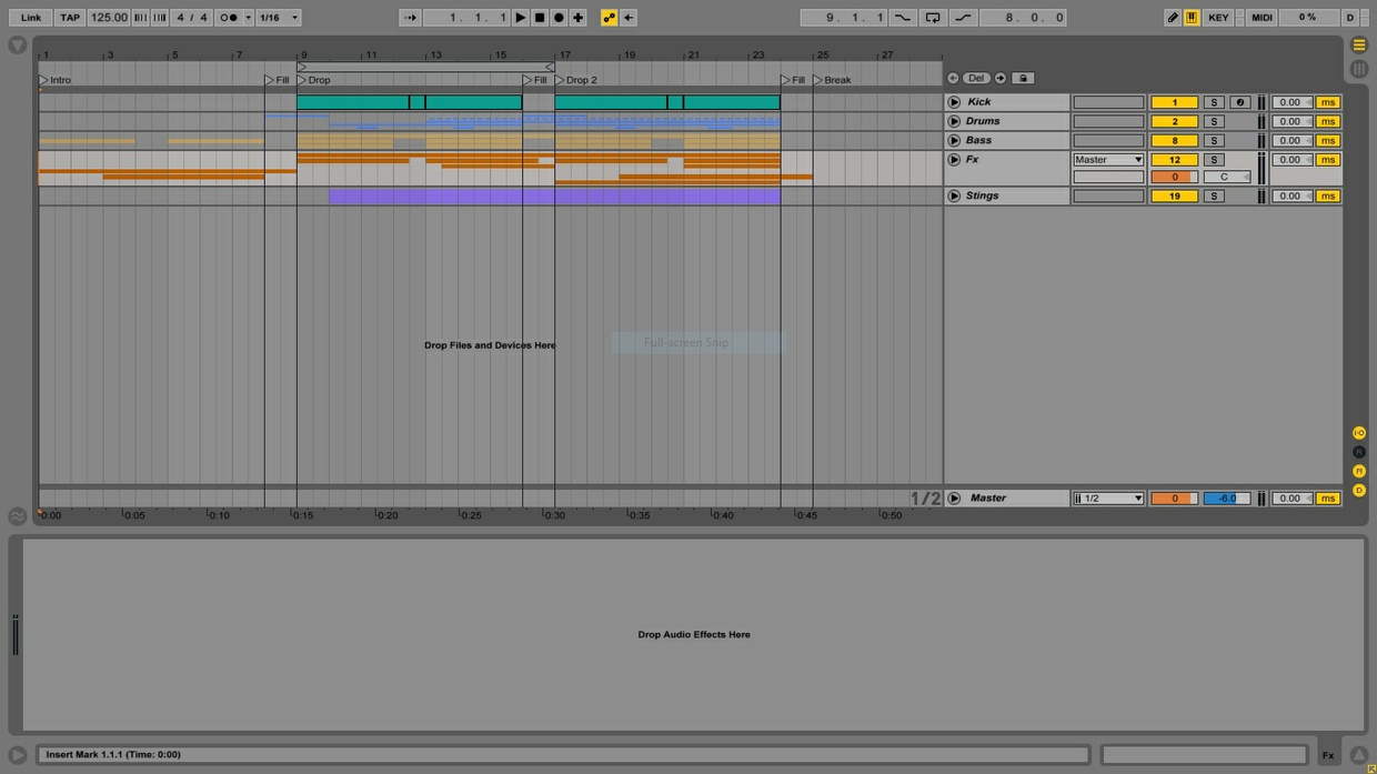 UK House Template (Ableton 9 Template + Project File)