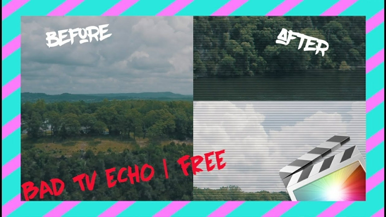 BAD TV ECHO | Final Cut Pro X TRANSITION