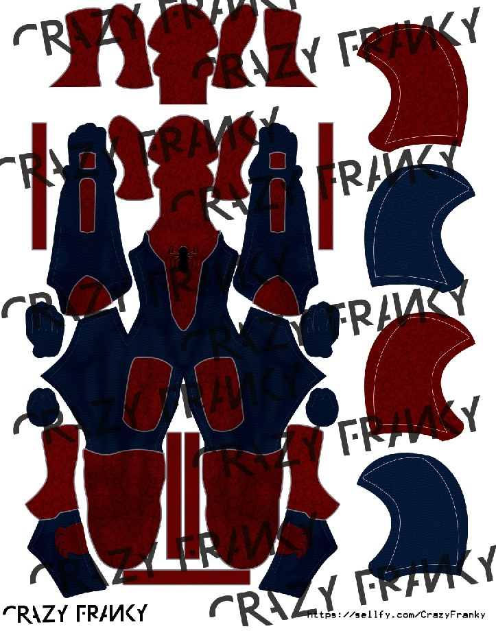 FanArt Civil War V2 (with hood and extra mask) pattern