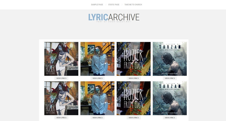 WPArchive: Lyrics - Premade #1