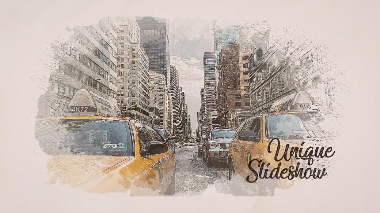 Template Sketch Slideshow sony vegas 12 13 14