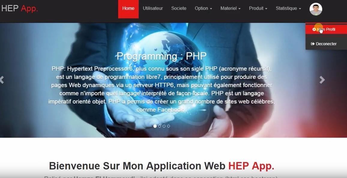 Application web base données mysql codage php (Gestion Panne des matériel informatique)