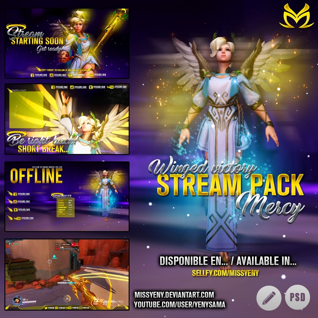 Stream Pack | Overwatch Mercy Winged Victory