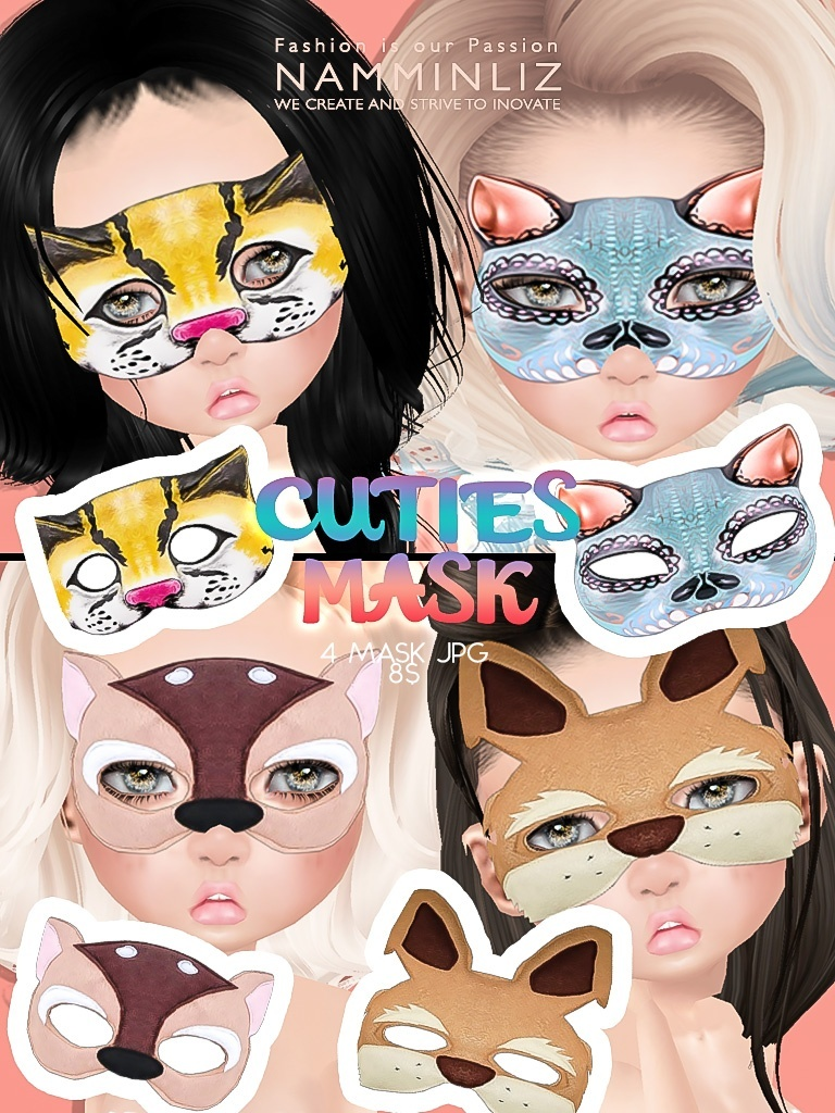 Cuties Mask 4 imvu texture JPG NAMMINLIZ file sale