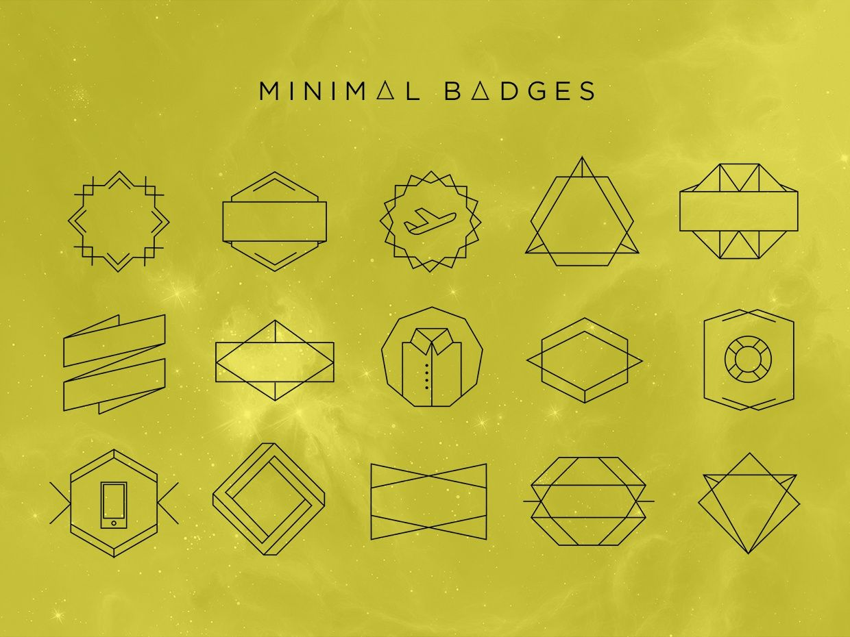 MINIMAL DESIGN BADGES (VECTOR , SVG, PSD)