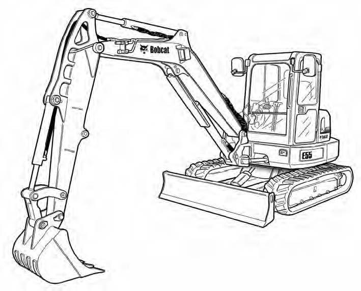 Bobcat E55 Compact Excavator Service Repair Manual Download(S/N AJ1911001 & Above)
