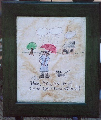 #335 Rain Rain Go Away E Pattern