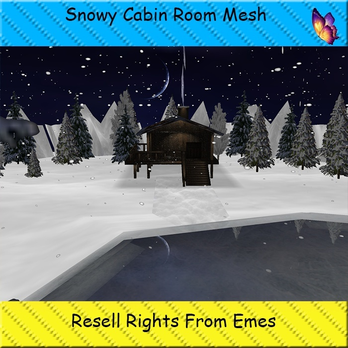 Snowy Cabin Room Mesh Catty Only!!!