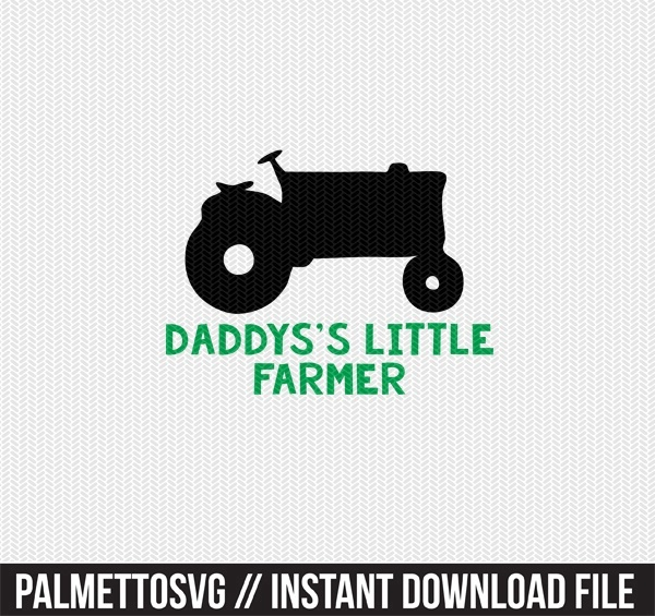 daddys little farmer clip art svg dxf cut file silhouette cameo cricut download
