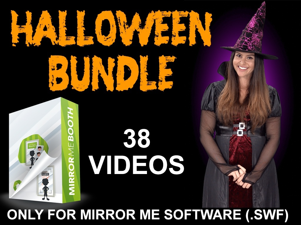 HALLOWEEN BUNDLE - 38 VIDEOS- FOR MIRROR ME SOFTWARE