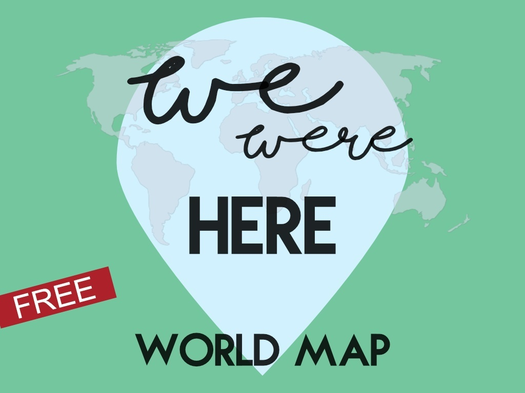 We Were Here World Map - Visited Countries