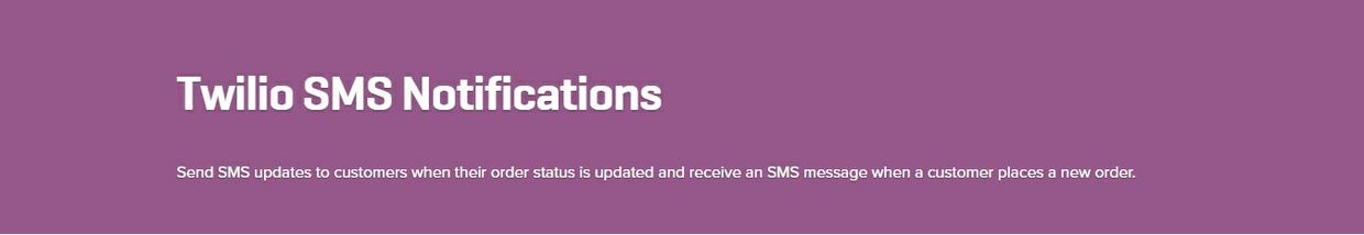 WooCommerce Twilio SMS Notifications 1.9.0 Extension