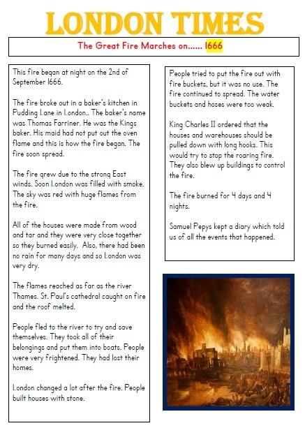 GREAT FIRE OF LONDON NEWSPAPER - 3X DIFFERENTIATED NEWSPAPER REPORTS PDF