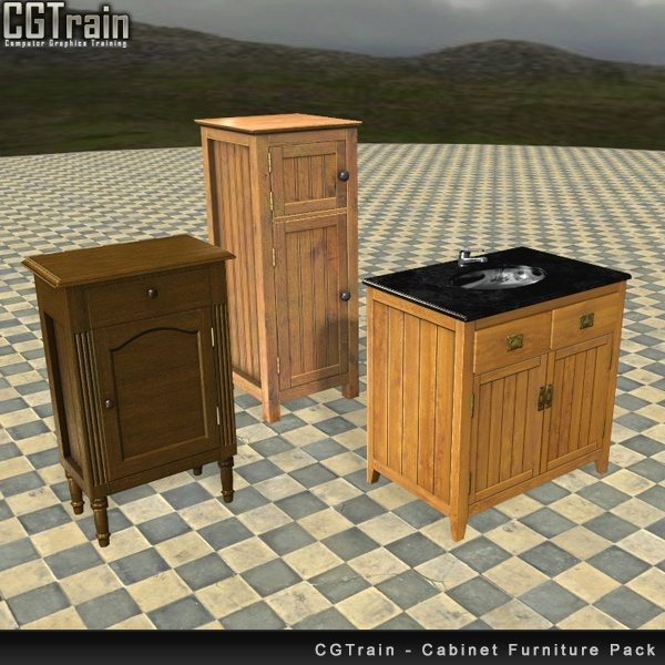 Openable Cabinet Asset Pack