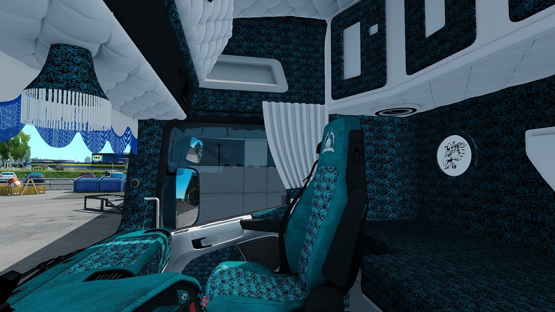 Scania RJL Blue Custom / Holland / Danish Interior ETS 2