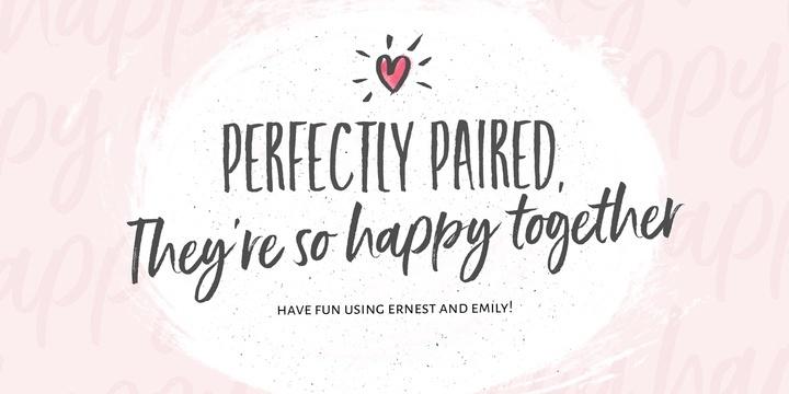 Ernest & Emily | Font Family