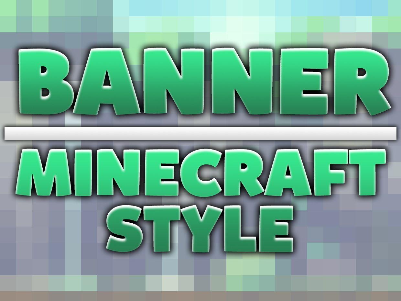 Banner [8€] Minecraft Style