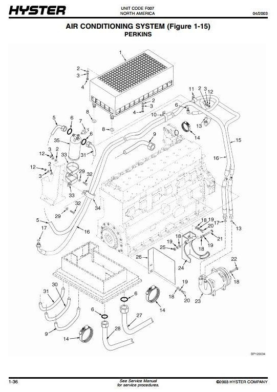 Hyster Forklift Truck F007 Series: H8.00XM, H9.00XM, H10.00XM, H12.00XM Spare Parts List, EPC