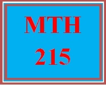 MTH 215 Week 3 MyMathLab® Week 3 Checkpoint