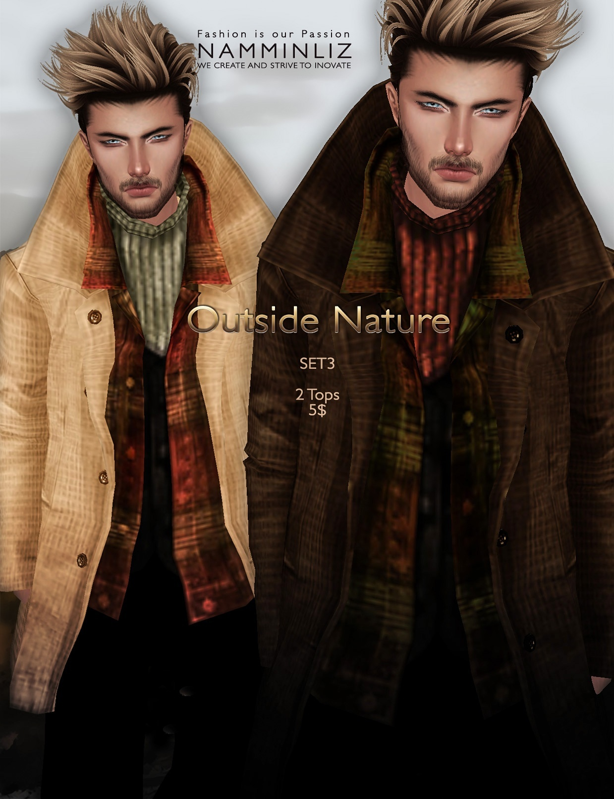 Outside Nature 3 SET imvu JPG Textures 2Tops