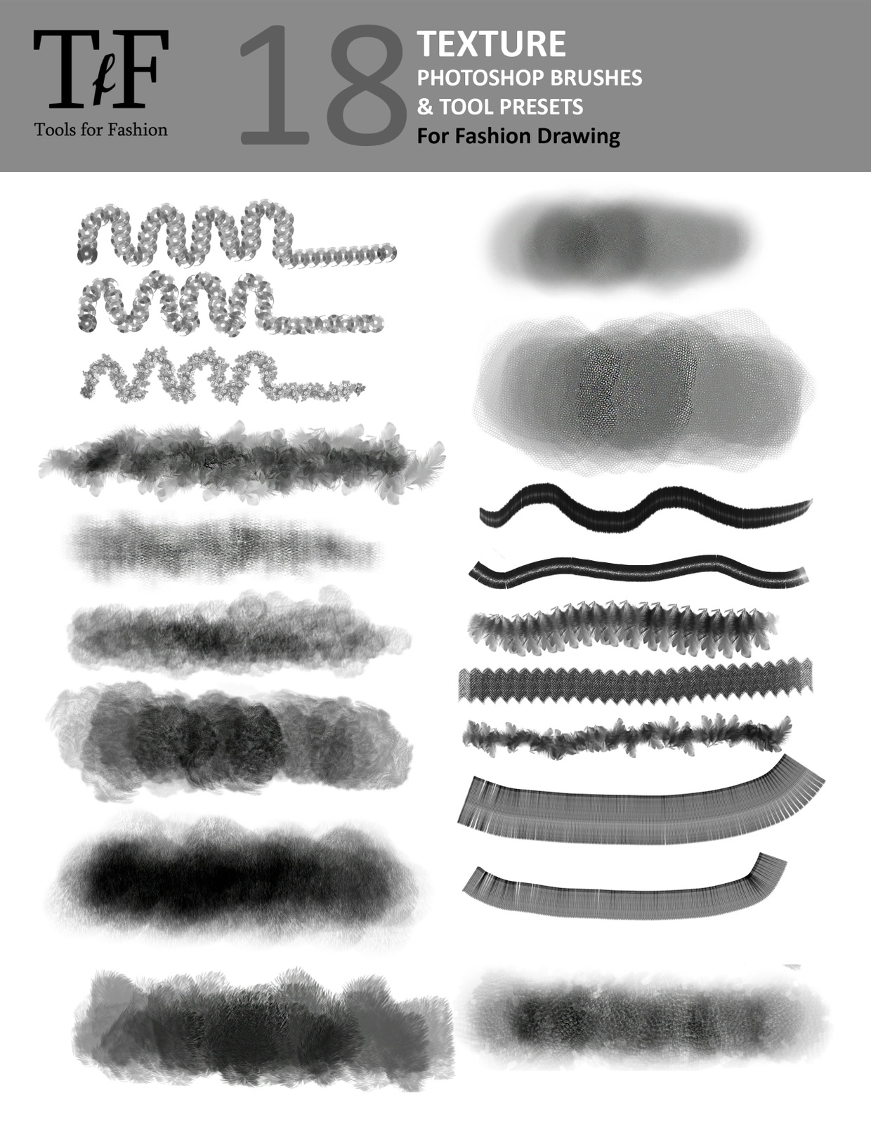Fashion Brushes and Tool Presets for Photoshop