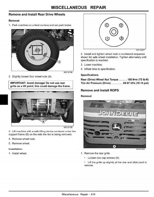 John Deere Max-Frame Z-Trak™ Mower: 777 (SN from 040001), 797 (SN from 040001) Technical Manual