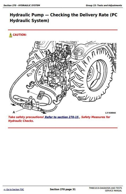 John Deere 6100J, 6110J, 6125J, 6130J Tractors Diagnosis and Tests Service Manual (TM801819)