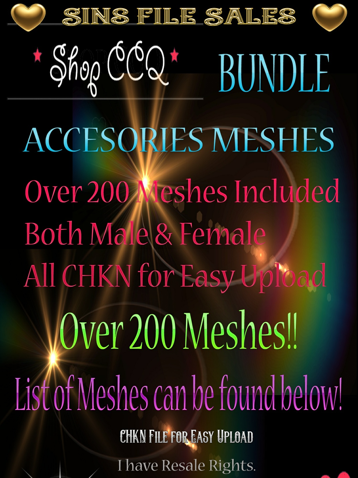 ♥SALE-Meshes♥ Over 200 Accessories for Male & Female!