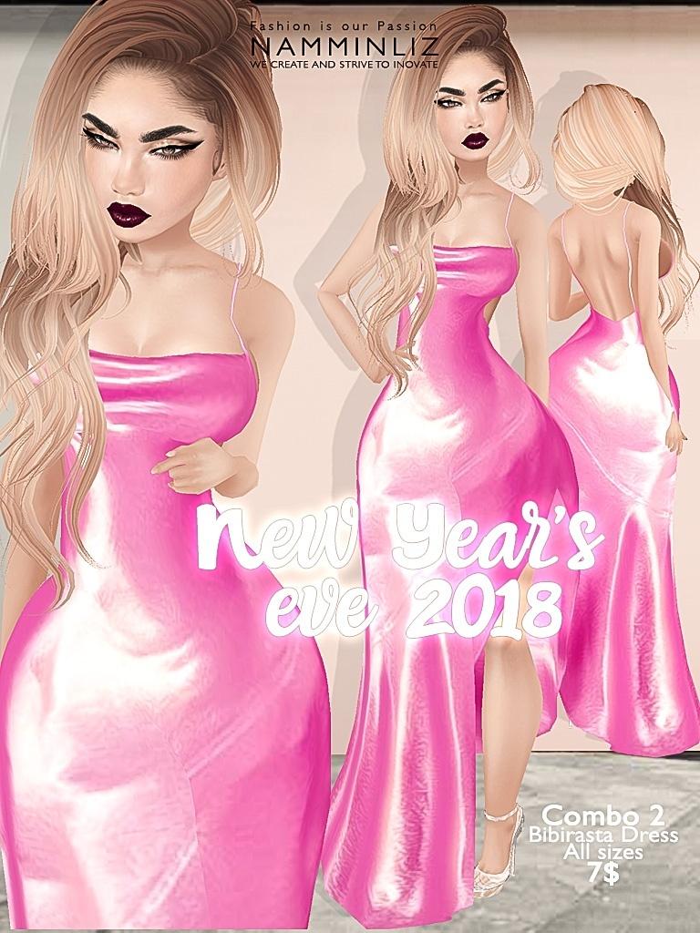 New Year's eve combo2 Bibirasta dress all sizes imvu JPG texture NAMMINLIZ