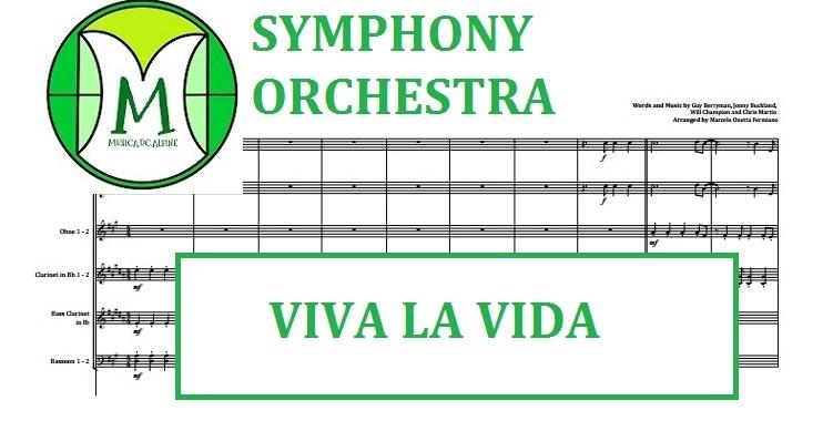 Viva La Vida | Coldplay | Orquestra Sinfônica | Partitura Completa com Grade e Partes.