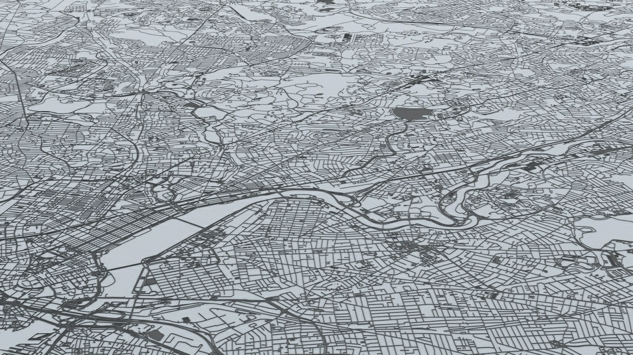 Boston Road Network and Streets Architectural 3D Model
