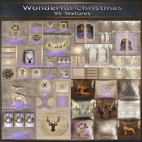 Wonderful Christmas 95 Textures