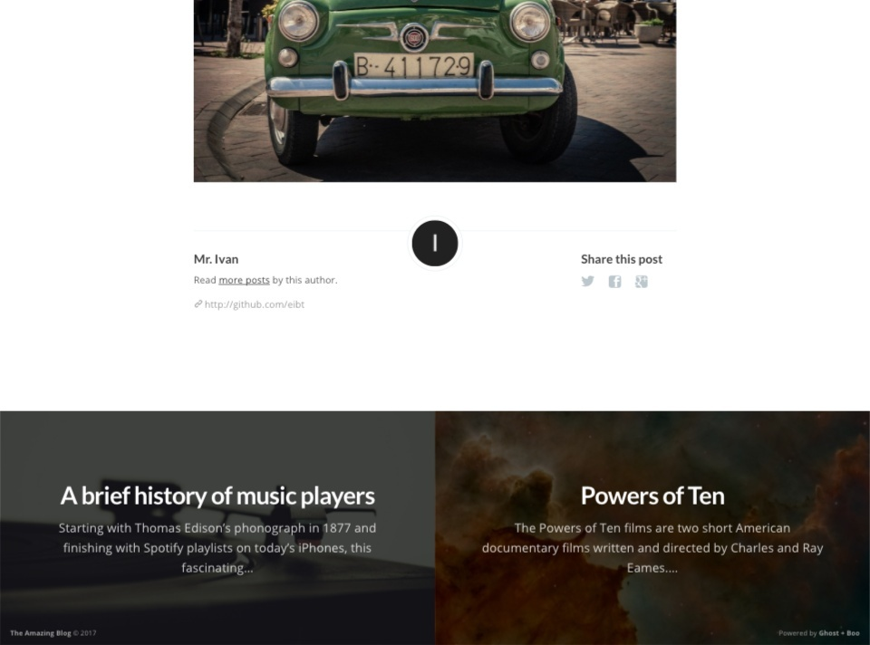 Boo.  A beautiful theme for your blog.