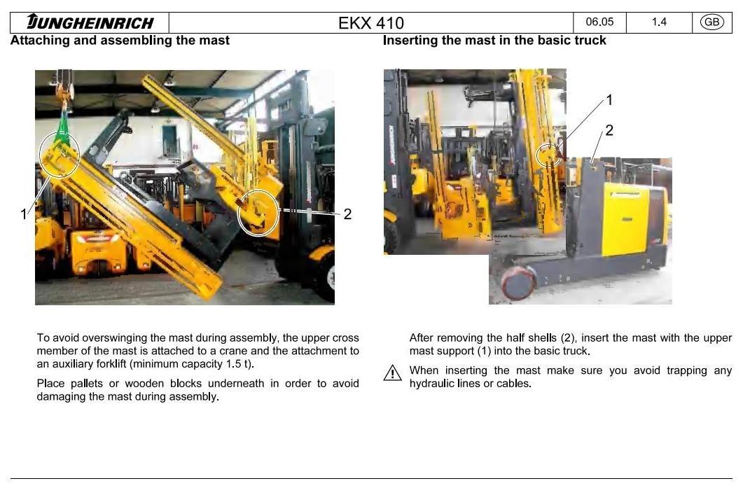 Jungheinrich Electric StockPicker EKS 410 (from 12.2003) Workshop Service Manual