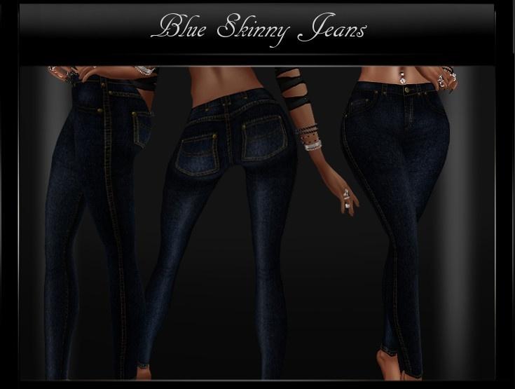 Blue Skinny Jeans Sis3D IMVU