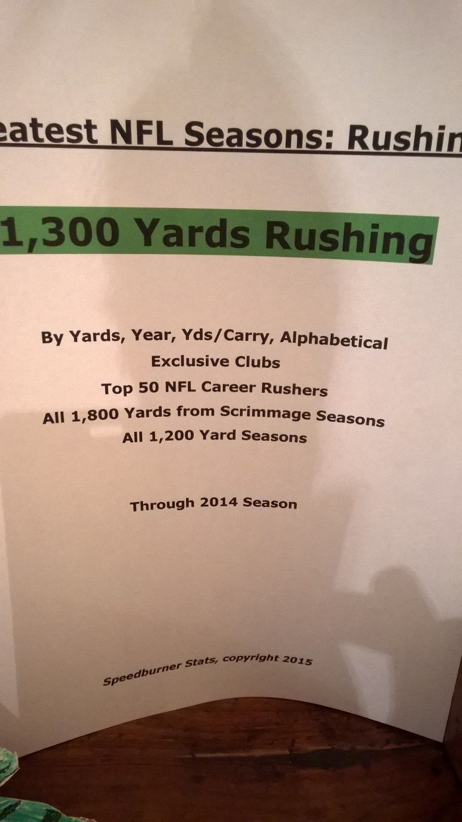 NFL All-Time Rushing Seasons