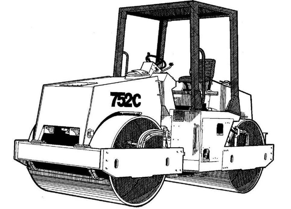 Vibromax 752C Tandem Drum Roller Service Repair Manual Download