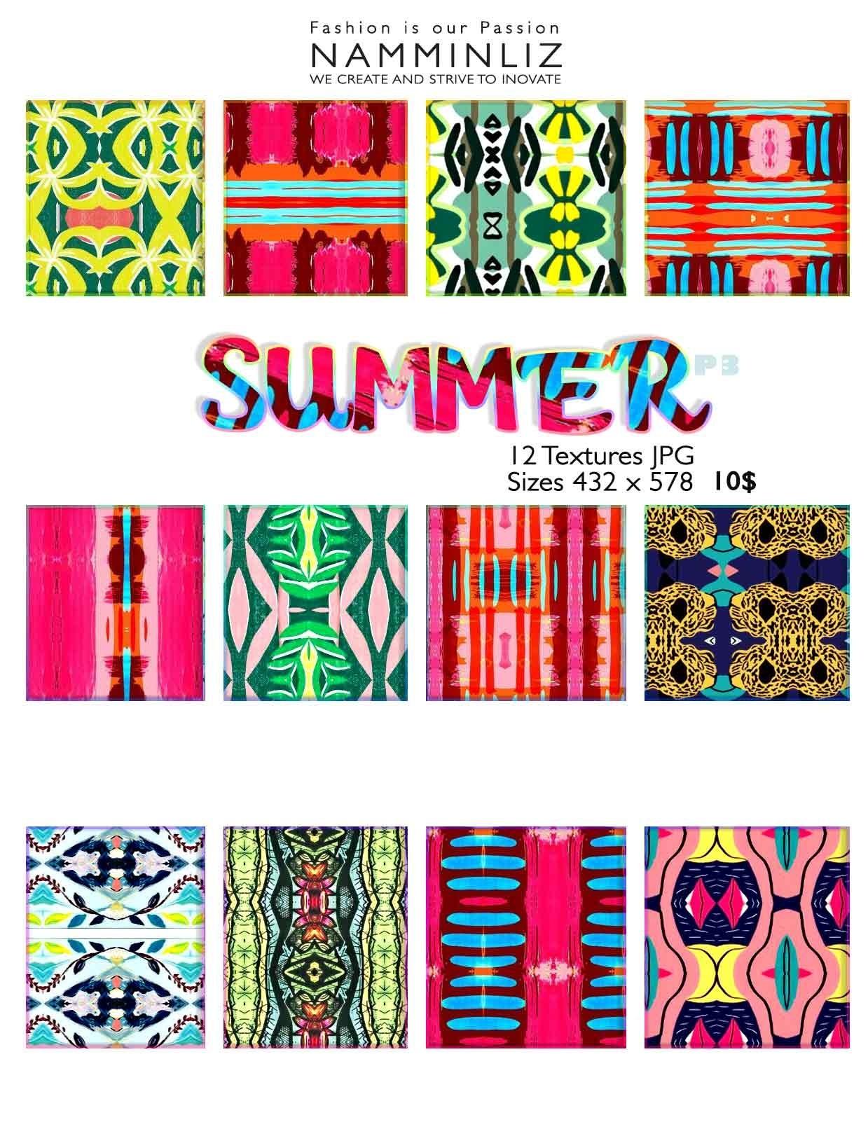 Summer Textures Full  • 48 Textures JPG imvu NAMMINLIZ