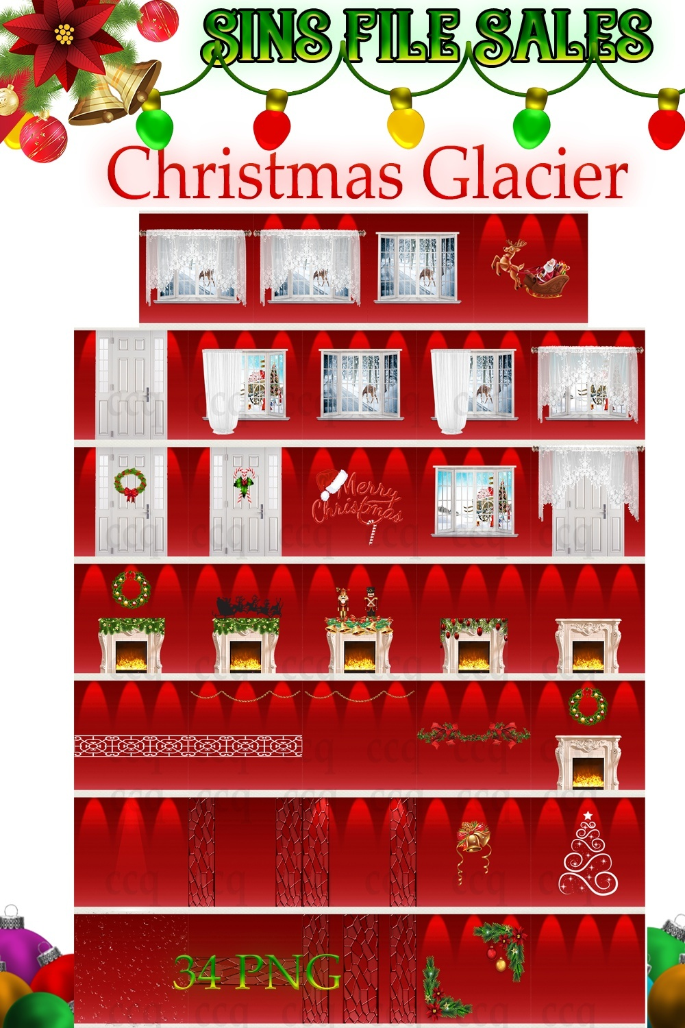 Christmas Glacier Texture Pack *34 Png