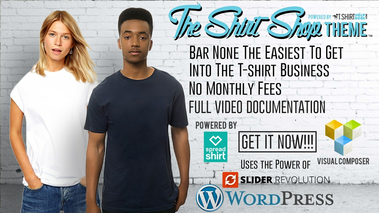 The Shirt Shop Theme 50% off Already Applied To Price!