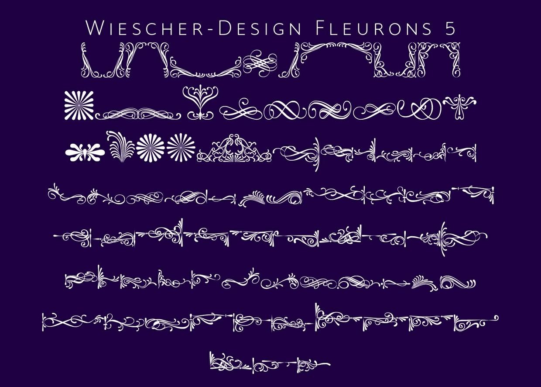 Fleurons 5-pack