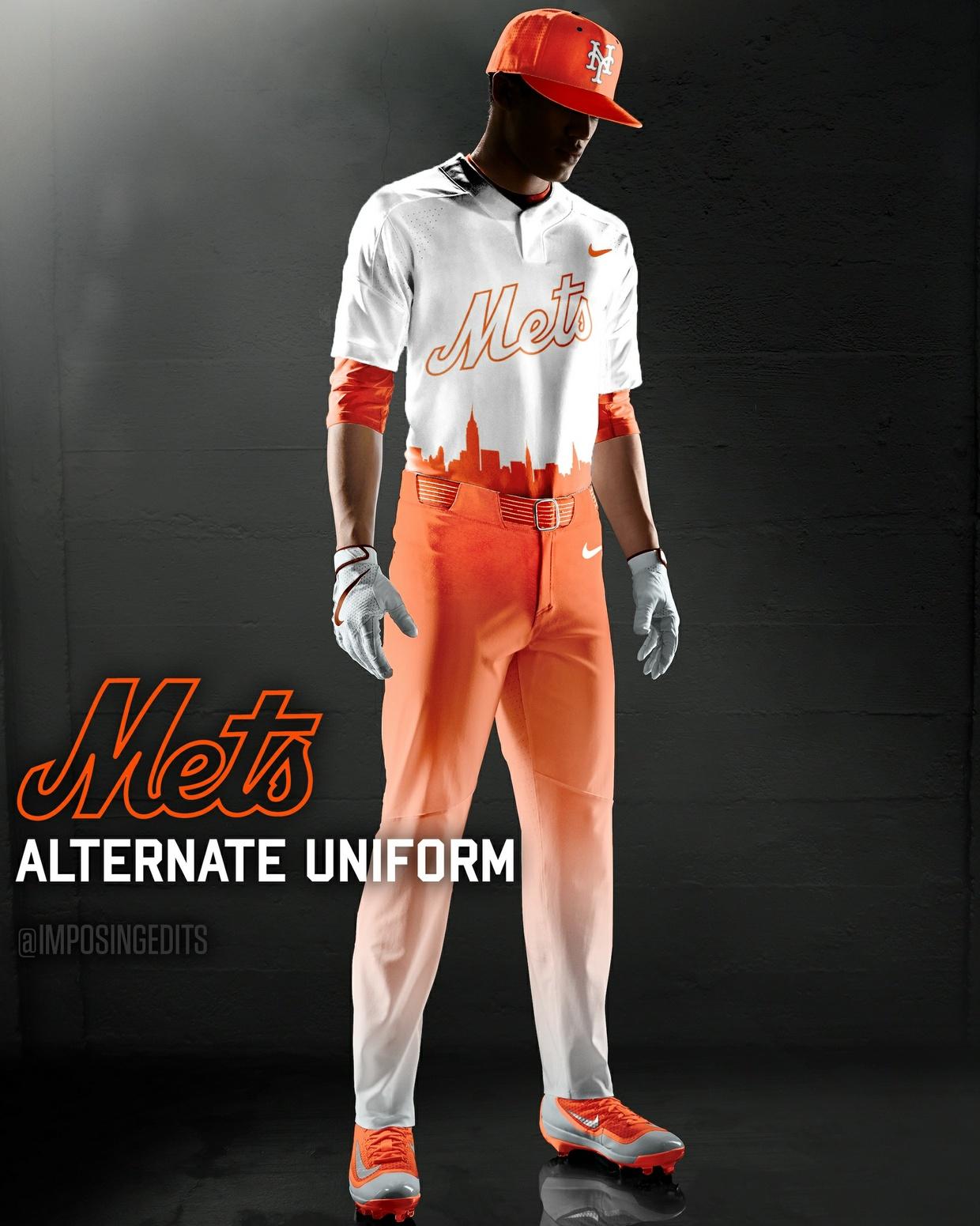 Baseball Alternate Uniform Template (PSD)