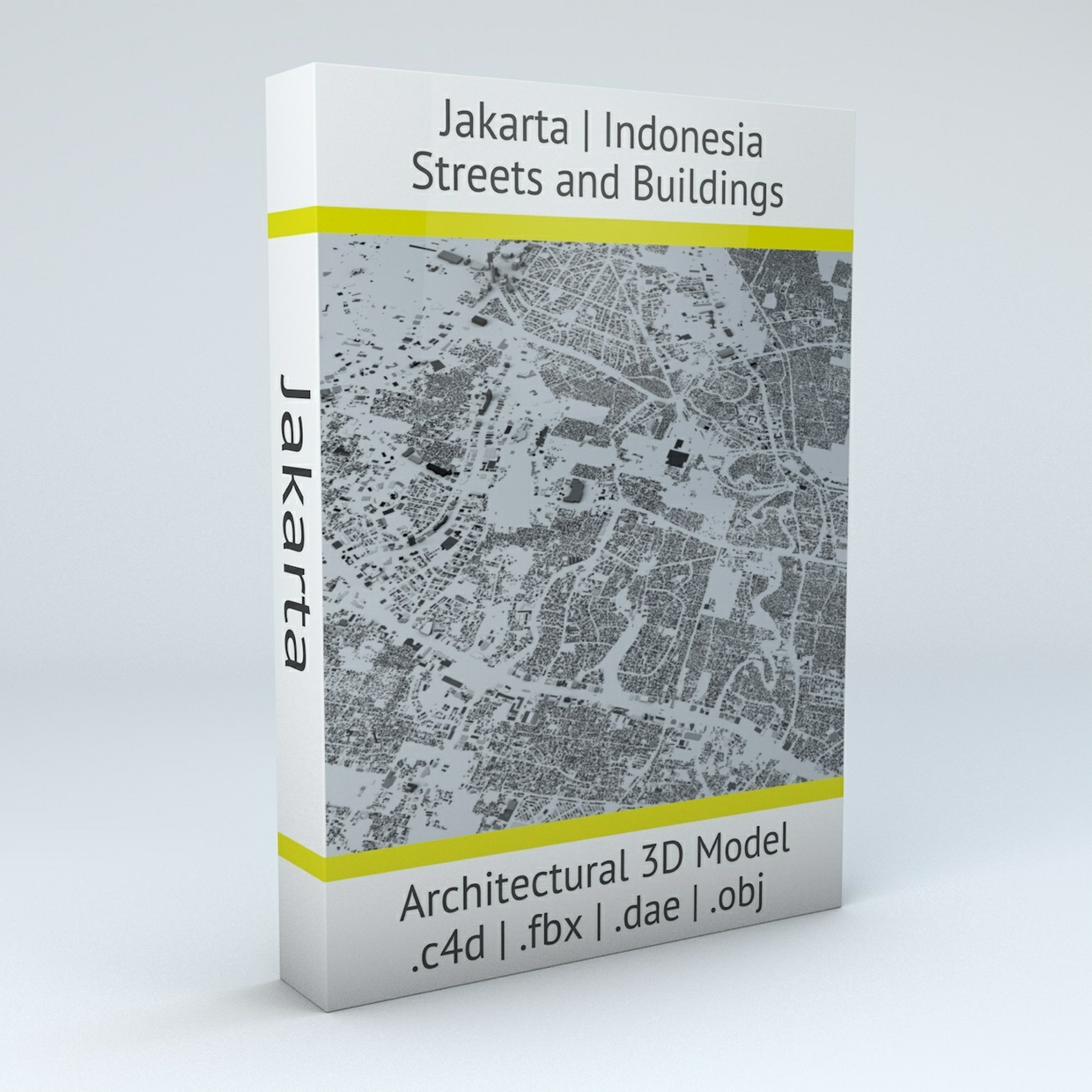 Jakarta Streets and Buildings Architectural 3D Model