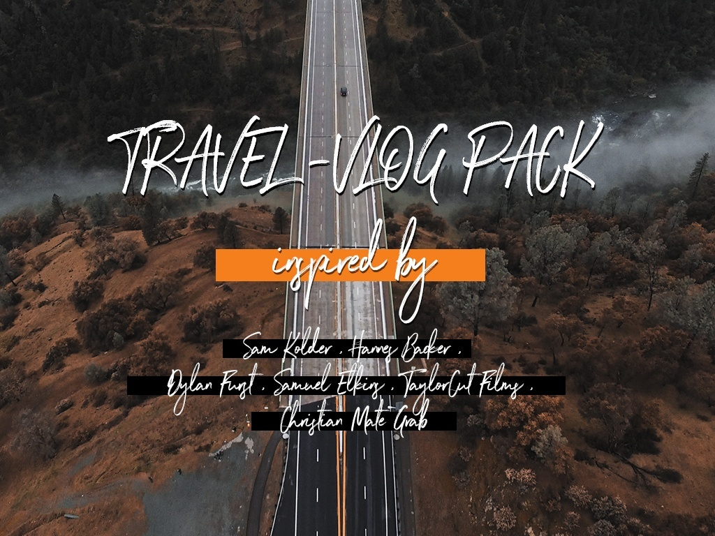 Travel VLOG LUTs - Inspired by popular cinematographers