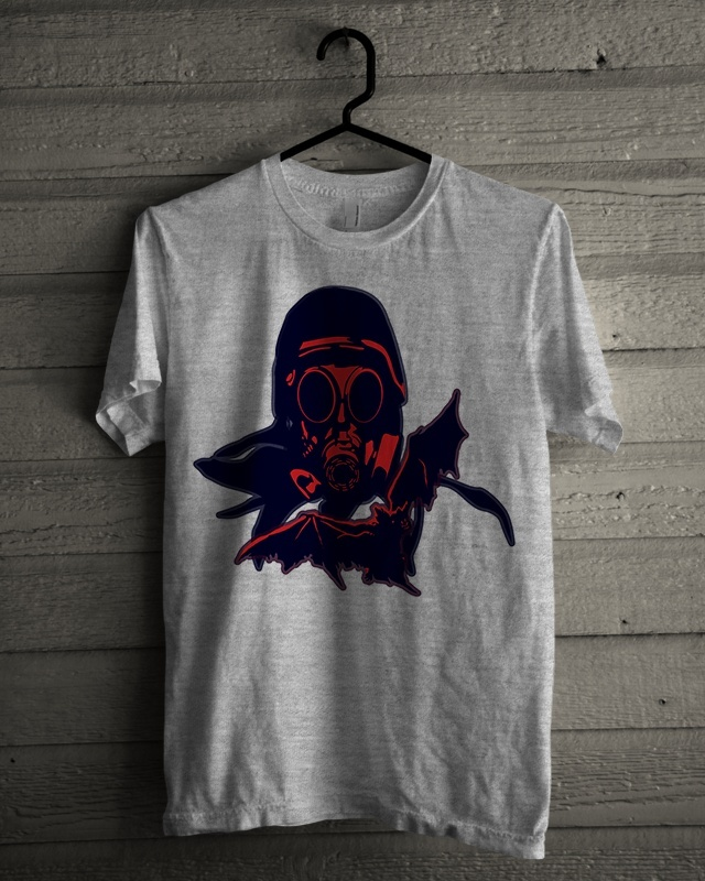 T-shirt Design 'Red Mask Soldier'
