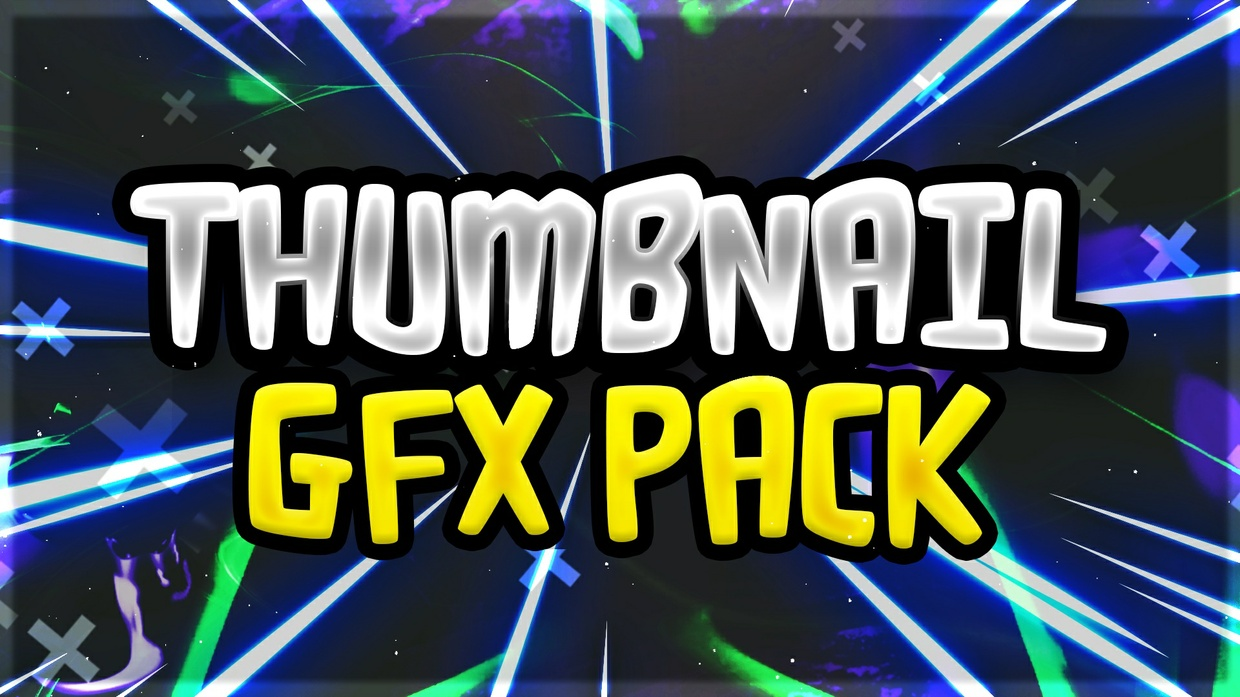 FREE Thumbnail GFX Pack! Make Awesome Thumbnails!  (Thumbnail Pack) PhotoShop 2017!