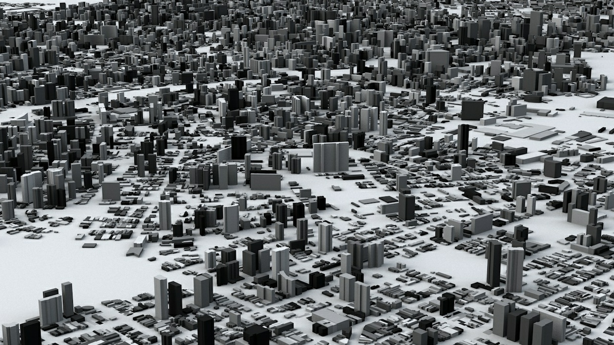 Sao Paulo Streets and Buildings Architectural 3D Model